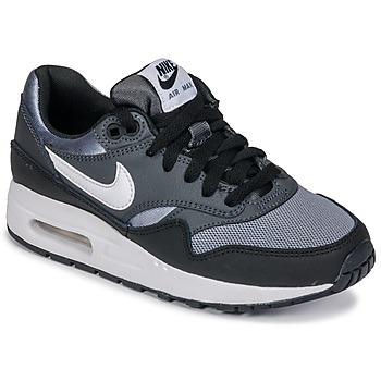 Buty Chłopiec Trampki niskie Nike AIR MAX 1 GRADE SCHOOL Czarny / Szary