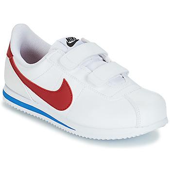 Buty Chłopiec Trampki niskie Nike CORTEZ BASIC PRE-SCHOOL Biały / Niebieski / Czerwony