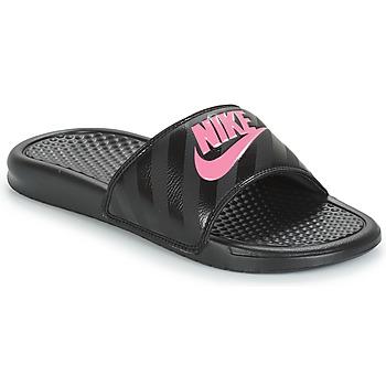 Buty Damskie klapki Nike BENASSI JUST DO IT W Czarny / Różowy