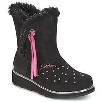 Buty Dziewczynka Śniegowce Skechers SPARKLES Czarny / Różowy