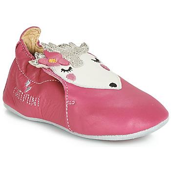 Buty Dziewczynka Kapcie niemowlęce Catimini HERISSETTE Różowy