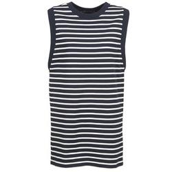 tekstylia Damskie Sukienki krótkie Petit Bateau MARBRE Marine / Ecru