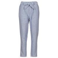 tekstylia Damskie Spodnie z pięcioma kieszeniami Betty London IKARALE Niebieski / Biały
