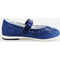 Buty Dziewczynka Baleriny Didiblu ballerine blu camoscio AG487 Blu