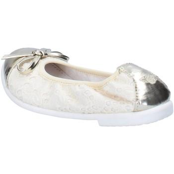 Buty Dziewczynka Baleriny Lelli Kelly ballerine beige tessuto platino pelle AG673 Beige