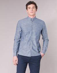 tekstylia Męskie Koszule z długim rękawem Casual Attitude IPODRUM Niebieski