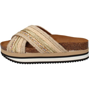 Buty Damskie klapki 5 Pro Ject Sandały AC586 Beżowy