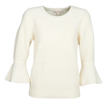 tekstylia Damskie Swetry MICHAEL Michael Kors SHAKER ROUND SLV Biały