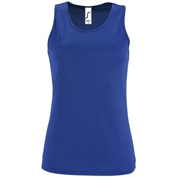 tekstylia Damskie Topy na ramiączkach / T-shirty bez rękawów Sols SPORT TT WOMEN Azul