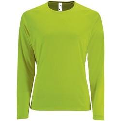 tekstylia Damskie T-shirty z długim rękawem Sols SPORT LSL WOMEN Verde