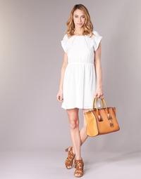 tekstylia Damskie Sukienki krótkie Moony Mood INDI Biały