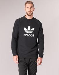 tekstylia Męskie Bluzy adidas Originals TREFOIL CREW Czarny