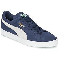 Buty Trampki niskie Puma SUEDE CLASSIC Niebieski / Biały