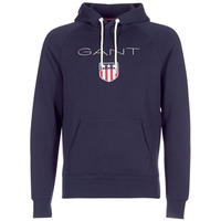 tekstylia Męskie Bluzy Gant GANT SHIELD SWEAT HOODIE Marine