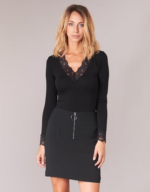tekstylia Damskie T-shirty z długim rękawem Morgan TRACY Czarny