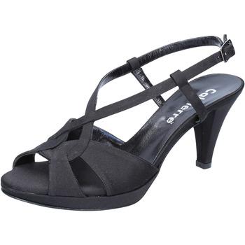 Buty Damskie Sandały Calpierre sandali nero raso BZ739 Nero