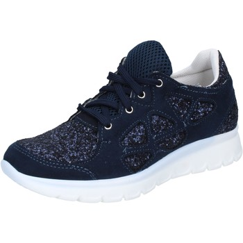 Buty Damskie Trampki niskie Hb Helene sneakers blu glitter camoscio BZ758 Blu