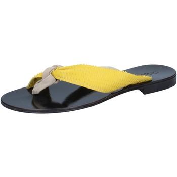 Buty Damskie Sandały Calpierre sandali beige camoscio giallo pelle BZ869 Beige
