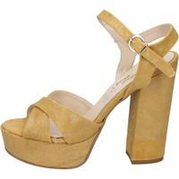 Buty Damskie Sandały Geneve Shoes BZ892 Żółty