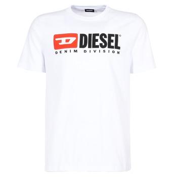 tekstylia Męskie T-shirty z krótkim rękawem Diesel T JUST DIVISION Biały