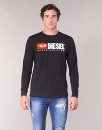 tekstylia Męskie T-shirty z długim rękawem Diesel T JUST LS DIVISION Czarny
