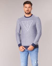 tekstylia Męskie Swetry Guess TAMAC Niebieski