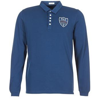 tekstylia Męskie Koszulki polo z długim rękawem Serge Blanco POLO France Niebieski