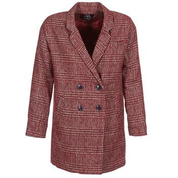 tekstylia Damskie Płaszcze Le Temps des Cerises LADY Bordeaux
