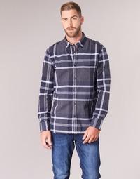 tekstylia Męskie Koszule z długim rękawem Oxbow CAMPO Marine
