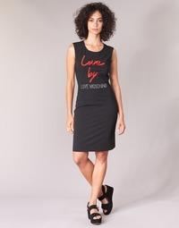 tekstylia Damskie Sukienki krótkie Love Moschino CARININA Czarny