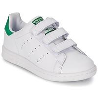 Buty Dziecko Trampki niskie adidas Originals STAN SMITH CF C Biały / Zielony