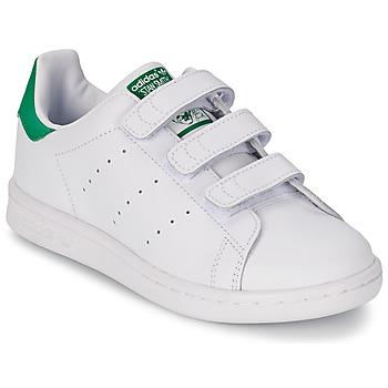 Buty Chłopiec Trampki niskie adidas Originals STAN SMITH CF C Biały / Zielony
