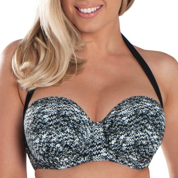 tekstylia Damskie Bikini: góry lub doły osobno Curvy Kate CS4941 BLK/WHI Czarny