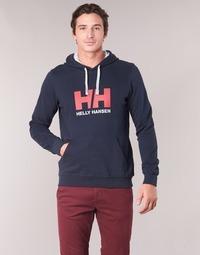 tekstylia Męskie Bluzy Helly Hansen HH LOGO HOODIE Marine