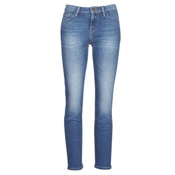 tekstylia Damskie Jeansy straight leg Lee ELLY Niebieski / Medium