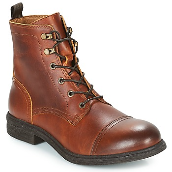Buty Męskie Buty za kostkę Selected TERREL LEATHER BOOT Cognac