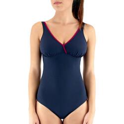 tekstylia Damskie Kostium kąpielowy jednoczęściowy Janine Robin 991645-17 Niebieski