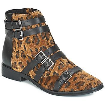 Buty Damskie Buty za kostkę Le Temps des Cerises IZY Leopard