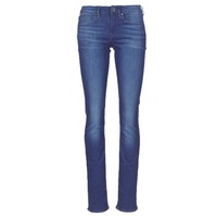 tekstylia Damskie Jeansy straight leg G-Star Raw MIDGE SADDLE MID STRAIGHT Niebieski / Medium