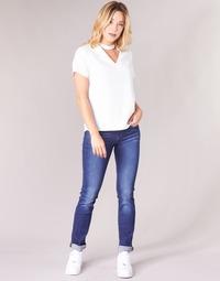 tekstylia Damskie Jeansy straight leg G-Star Raw MIDGE SADDLE MID STRAIGHT Niebieski / Medium