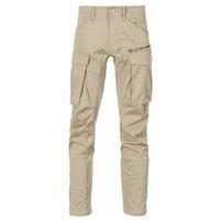 tekstylia Męskie Spodnie bojówki G-Star Raw ROVIC ZIP 3D STRAIGHT TAPERED Beżowy