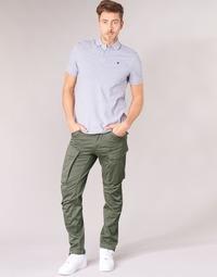 tekstylia Męskie Spodnie bojówki G-Star Raw ROVIC ZIP 3D STRAIGHT TAPERED Szary / Zielony