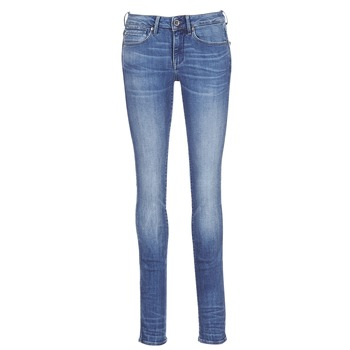 tekstylia Damskie Jeansy straight leg G-Star Raw MIDGE MID STRAIGHT Niebieski / Medium / Indigo