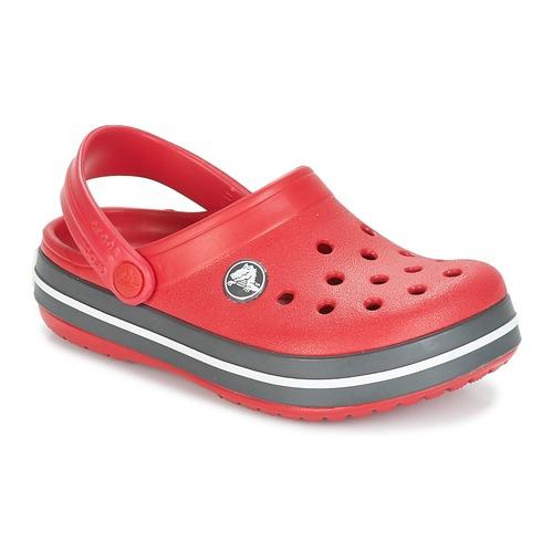 Buty Dziecko Chodaki Crocs CROCBAND CLOG KIDS Czerwony