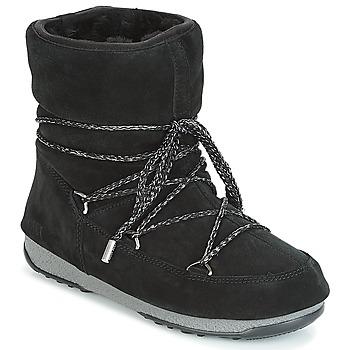 Buty Damskie Śniegowce Moon Boot LOW SUEDE WP Czarny