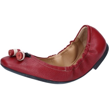 Buty Damskie Baleriny Bally Shoes ballerine rosso pelle BY33 Rosso