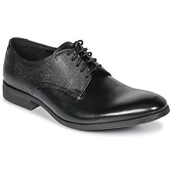 Buty Męskie Derby Clarks GILMORE Czarny / Leather