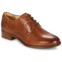 Buty Damskie Derby Clarks NETLEY Tan / Leather