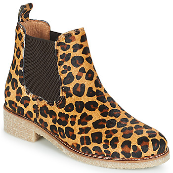 Buty Damskie Buty za kostkę Bensimon BOOTS CREPE Leopard