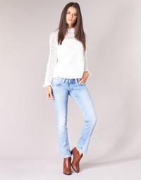 tekstylia Damskie Jeansy straight leg Pepe jeans VENUS Niebieski / Clair